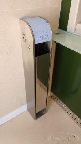 Cesto de papel em inox